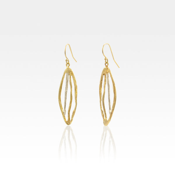 Twiglet Two Tone Earrings