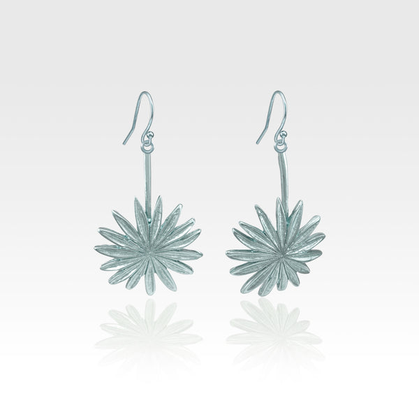 Vintage Flower Earrings - Silver