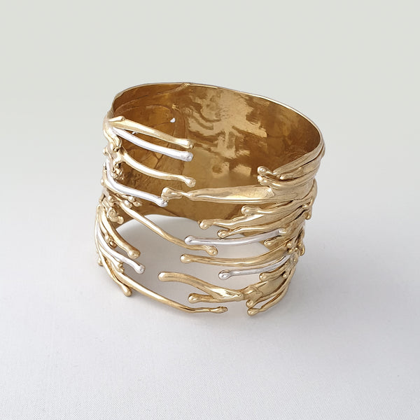 Waterfall Two Tone Cuff Bracelet Overview