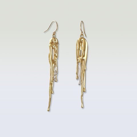 Waterfall Two Tone Earrings