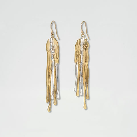 Waterfall Two Tone Earrings Limited Edition 2