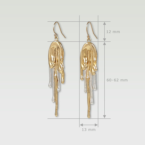 Waterfall Two Tone Earrings Limited Edition 3