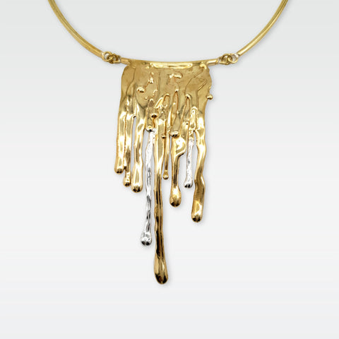 Waterfall Two Tone Necklace Limited Edition 2