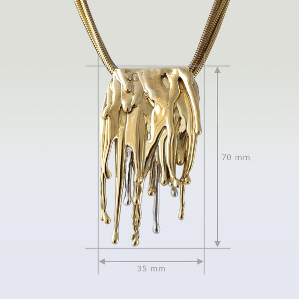 Waterfall Two Tone Pendant Measurements