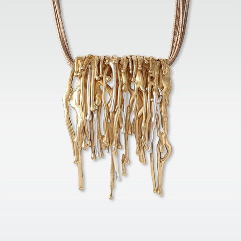 Waterfall Two Tone Necklace
