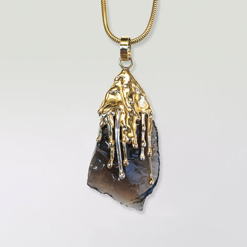 Waterfall Two Tone Smoky Quartz Pendant Limited Edition 1