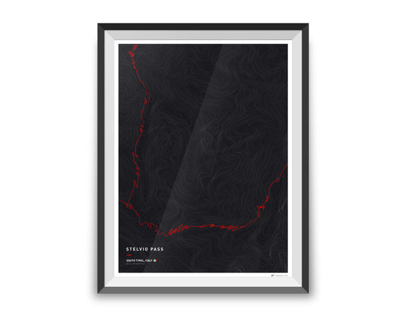 Driving roads: Stelvio Pass Artwork Print