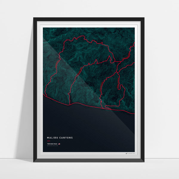 Driving roads: Malibu CA canyon roads print 1 of 3 - Trifuno Pass