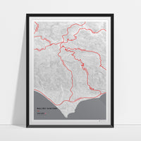 Driving roads: Malibu CA canyon roads print 2 of 3 - Point Dume