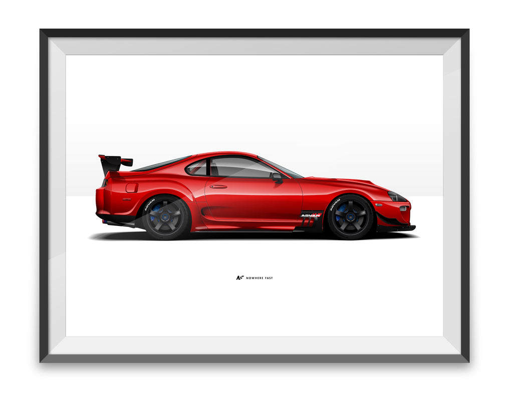 MKIV Red Sled Ltd. Edition print