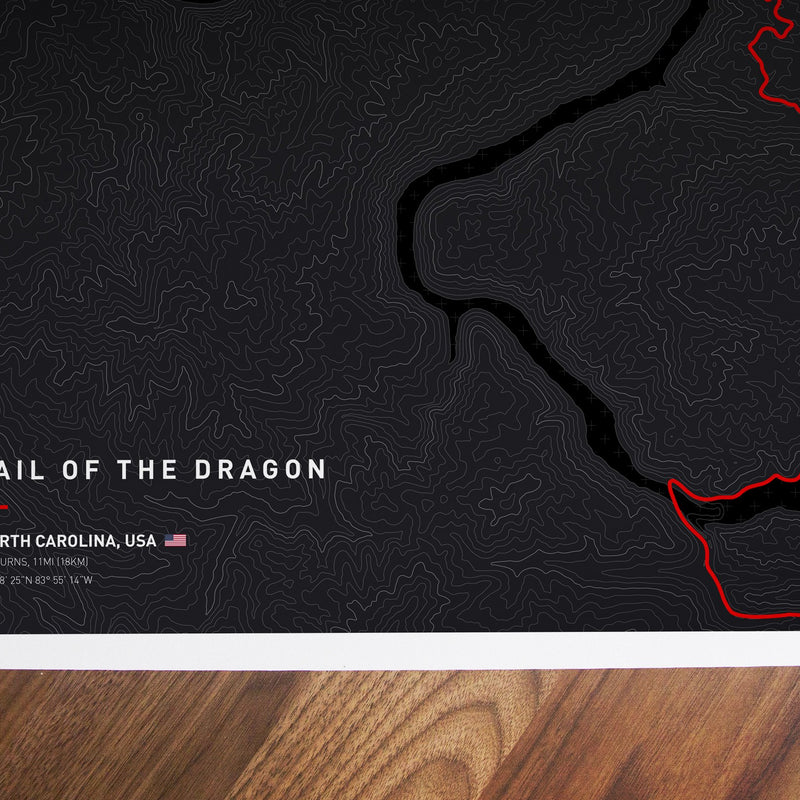 Driving roads: Tail of the Dragon Artwork Print