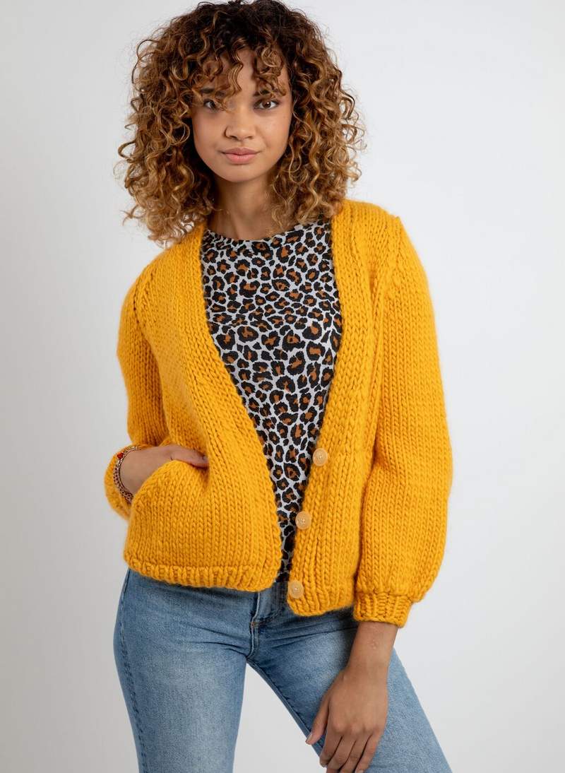 PATTERN - The Georgie Cardigan in 100% Merino