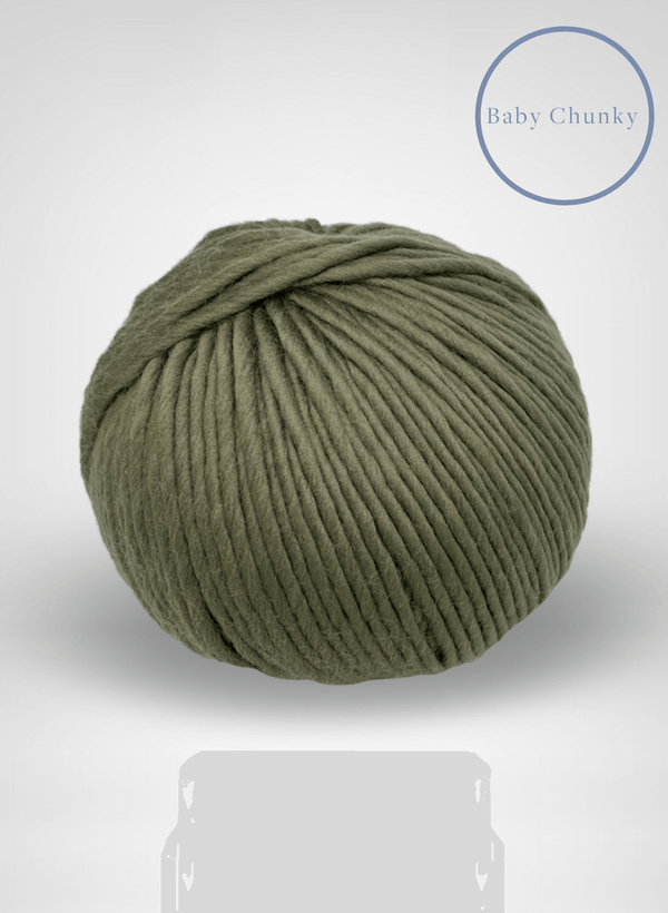 Baby Chunky: 100% Super Luxe Merino - Thyme