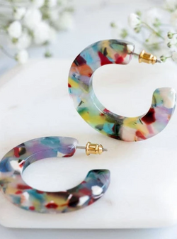 Earrings -  Rainbow Hoops