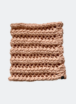 SALE: The Nantucket - Cowl Scarf in Peach