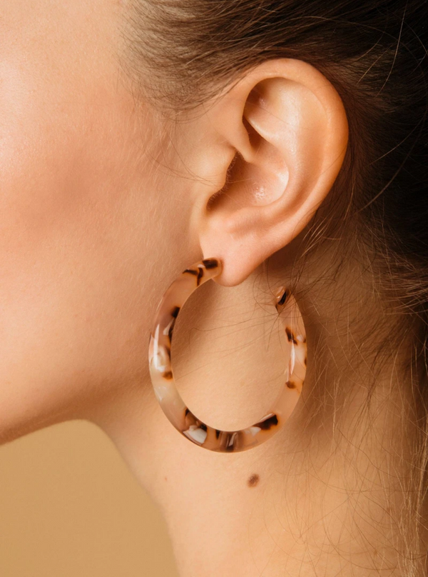Earrings - Hoops in Rose