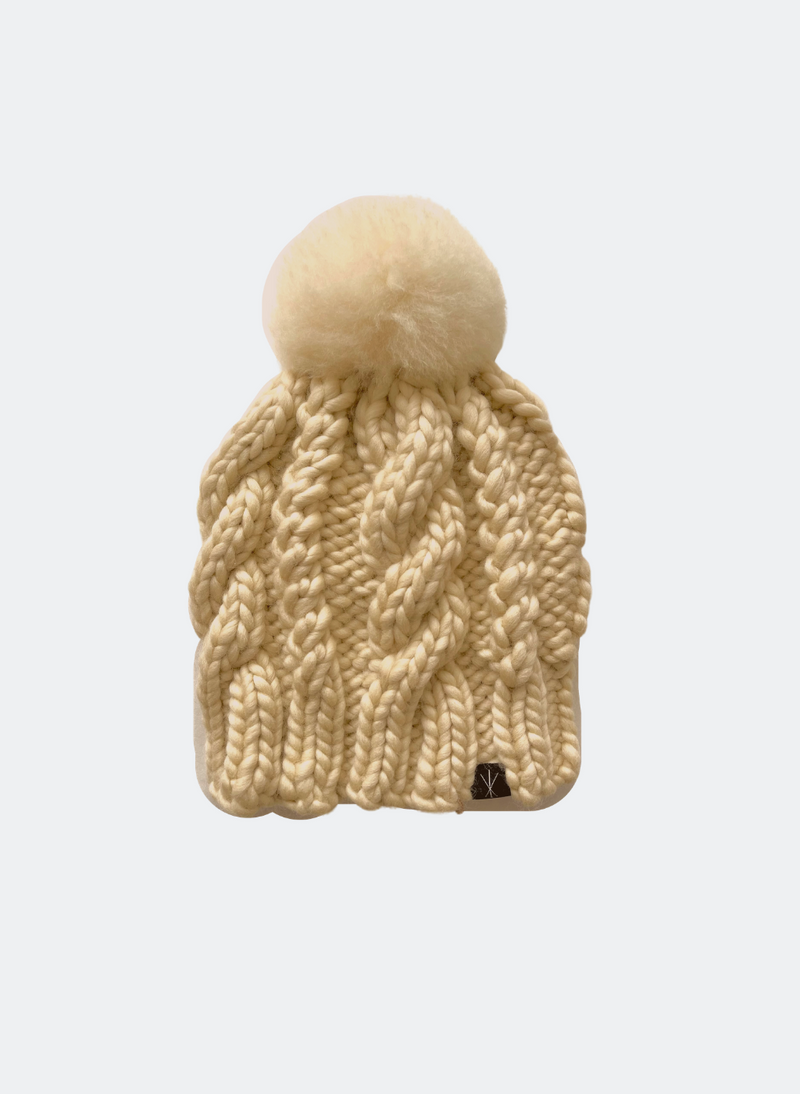 Ready Made: The Fenway - In Almond with Alpaca Pom Pom