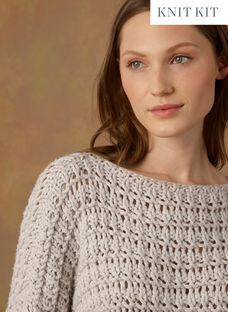 Knit Kit: The Hayley Cotton Pullover - Intermediate Advanced Level