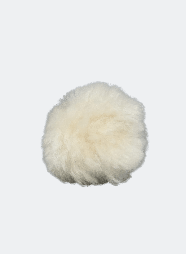 Alpaca Wool Pom Pom: In Almond