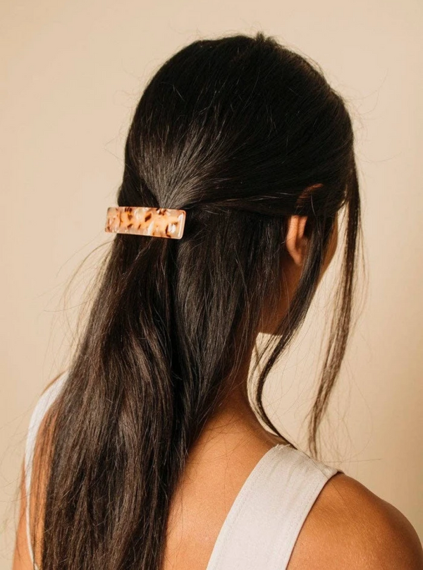French Barrette - Rose Blush