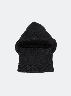 Ready Made: The Newbury - Hooded Cowl In Caviar