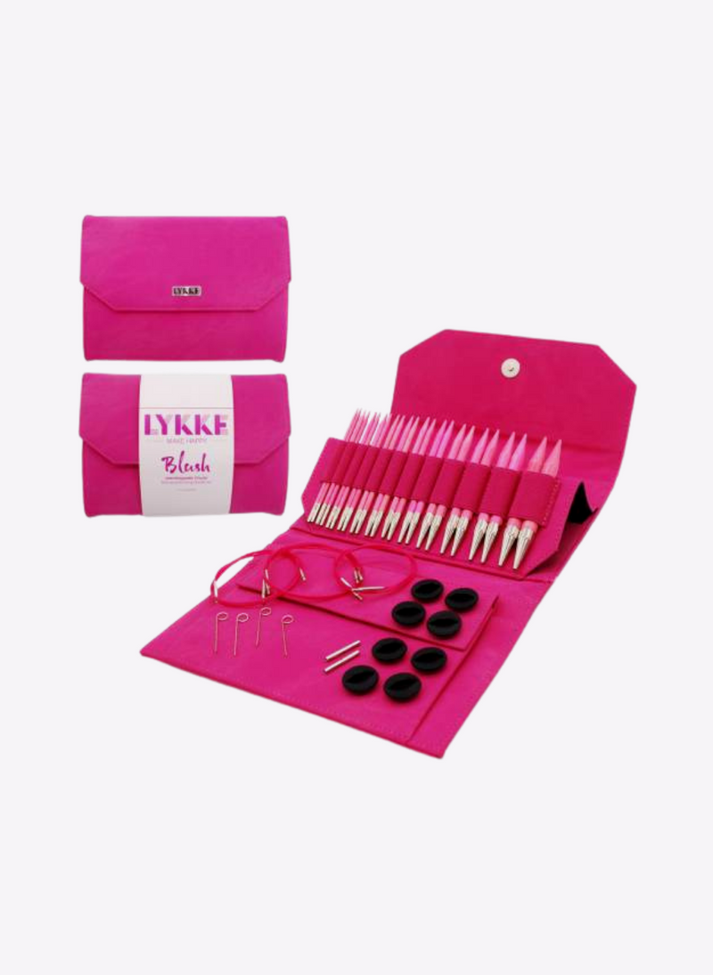 "Lykke - 5"" Interchangeable Needle Set (NEW! Fuscia Denim)"