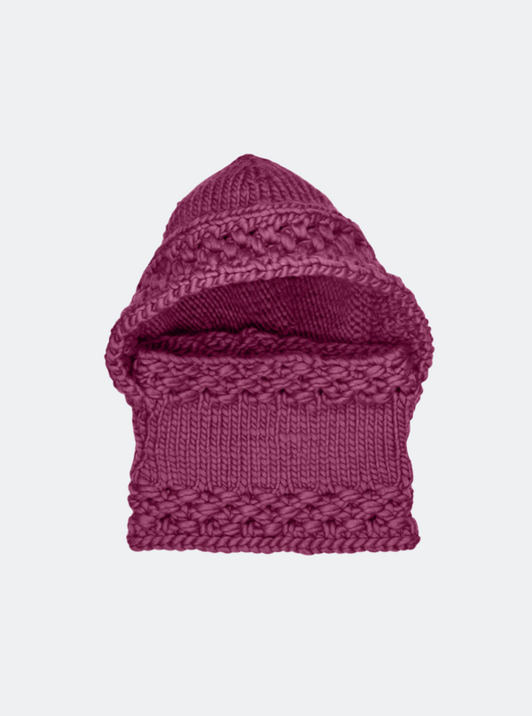 SALE: The Newbury - Hooded Cowl In Pinot