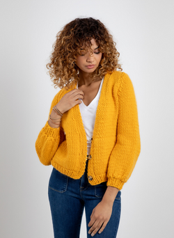 The Parker - Crochet Cardigan in Merino