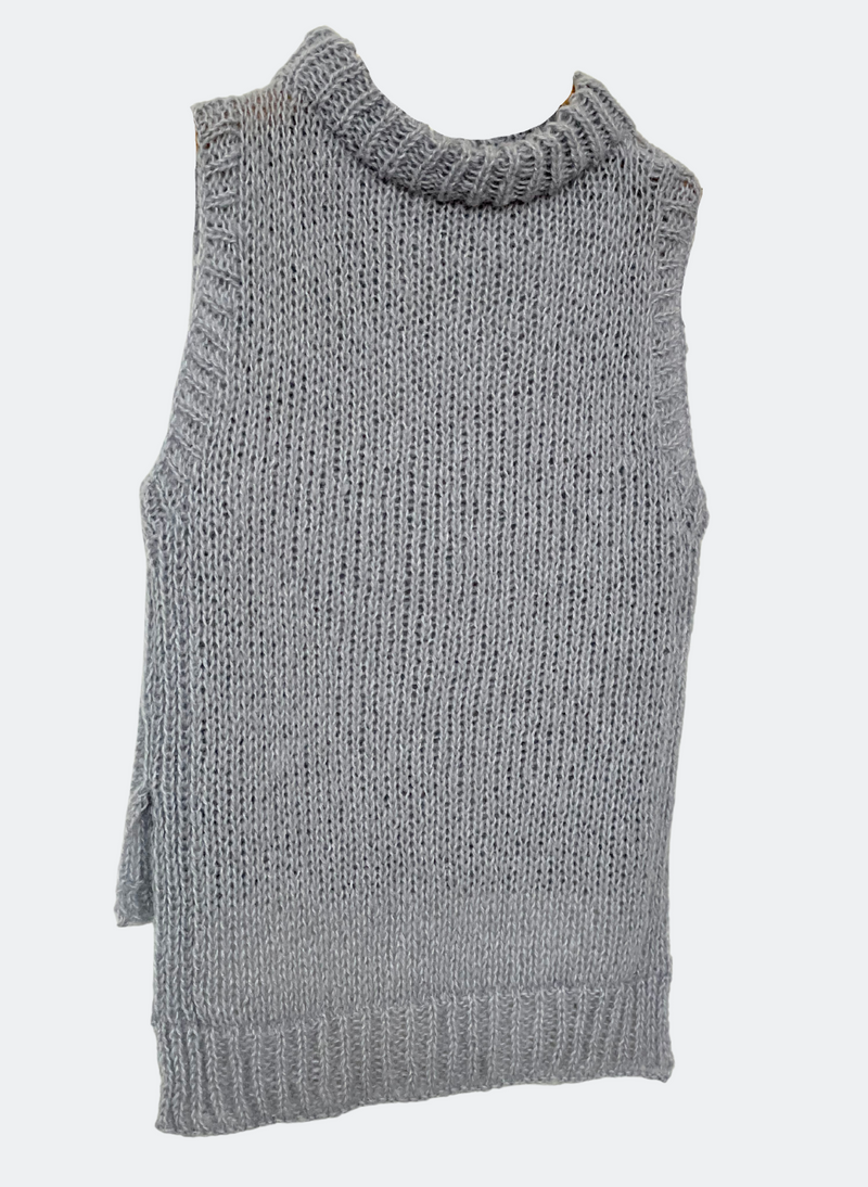 Limited Edition: The Hannah - High-Low Tunic Vest In Dove Grey