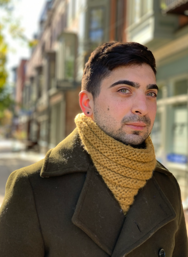Knit Kit: The Portland Cowl (in Moonshine) - Advanced Beginner Level