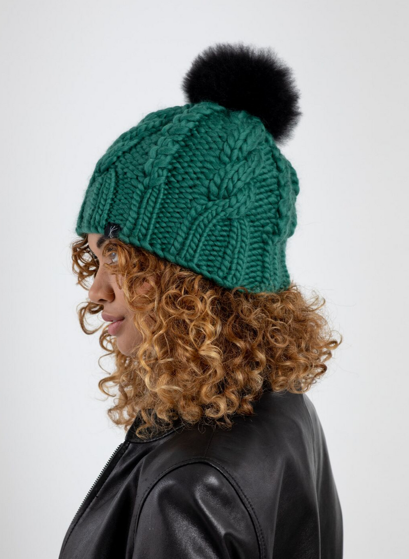 The Fenway - Cable Beanie Knit Kit