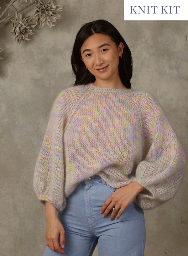 Knit Kit: The Liana, Exclusive The Wandering Flock Mohair Pullover - Intermediate  Level