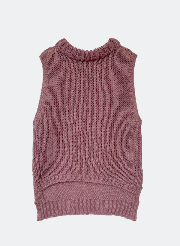 Limited Edition: The Hannah  - High-Low Vest In Dusty Rose
