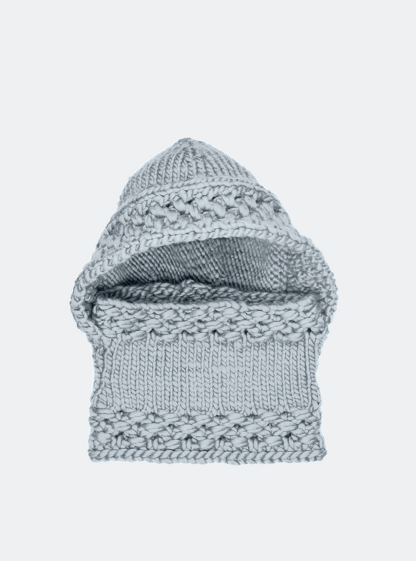 Ready Made: The Fenway - Cable Beanie In Almond with Alpaca Pom Pom