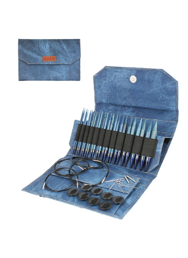 "Lykke - 5"" Interchangeable Needle Set (Indigo)"