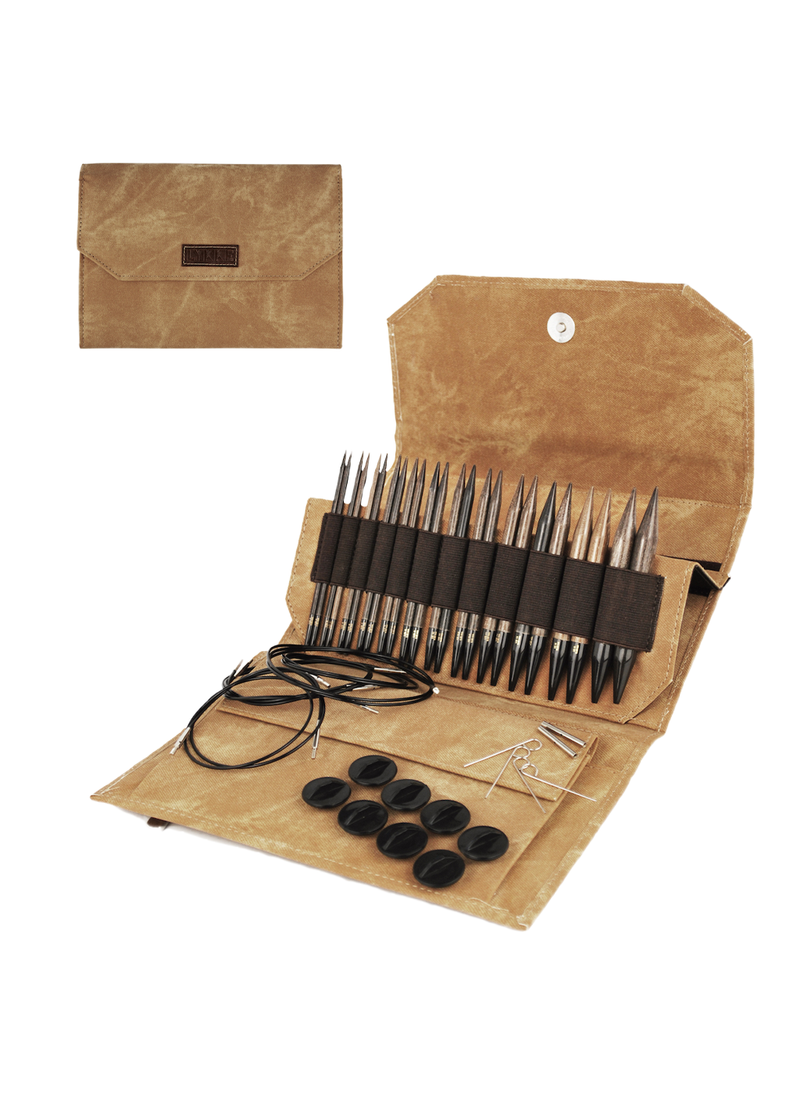 "Lykke - 5"" Interchangeable Needle Set (Umber)"