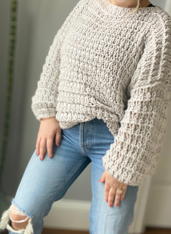 Made To Order: The Hayley - Open Knit Cotton Blend Sweater