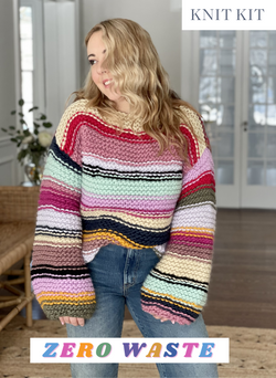 Knit Kit: Limited Edition Zero Waste Sofie Sweater - Advanced Beginner Level