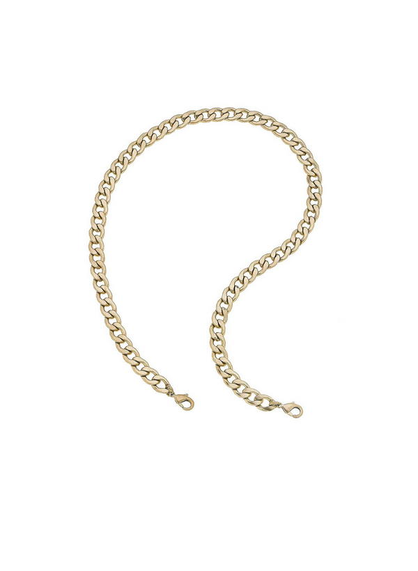 CANVAS - Bold Curved Chain Mask Necklace - Gold
