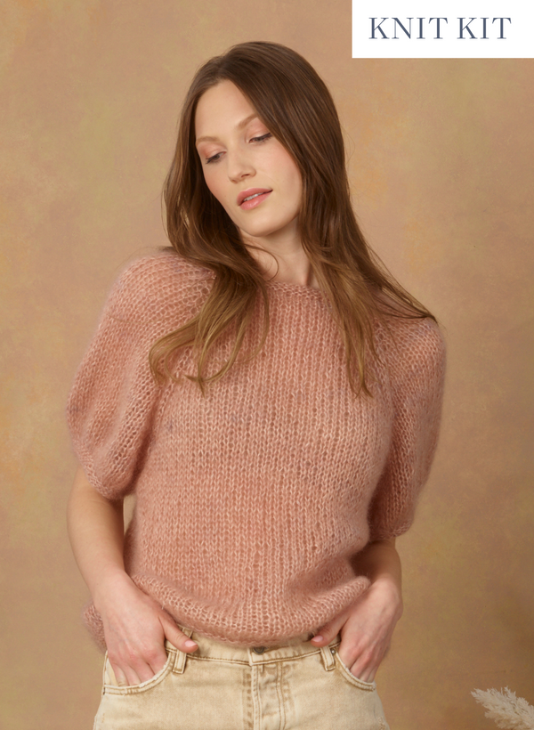 Knit Kit: The Lily - Exclusive The Wandering Flock Mohair Tee - Intermediate  Level