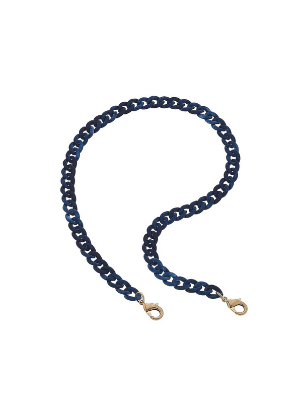 CANVAS - Legacy Resin Link Chain Mask Necklace - Navy