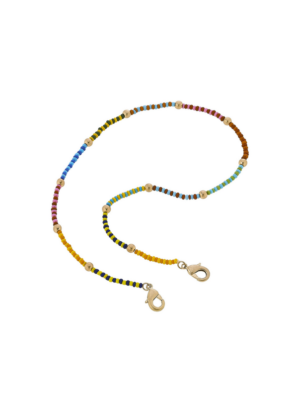 CANVAS - Lulu Seed Bead Color Block Mask Necklace