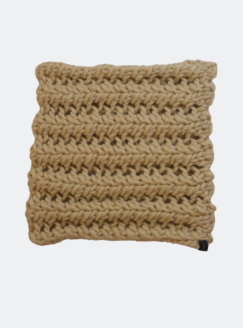 Ready Made: The Nantucket - Cowl Scarf in Almond