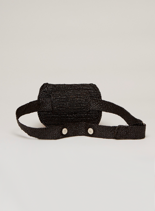 Alix Belt Bag  - Raffia Flap Pocket
