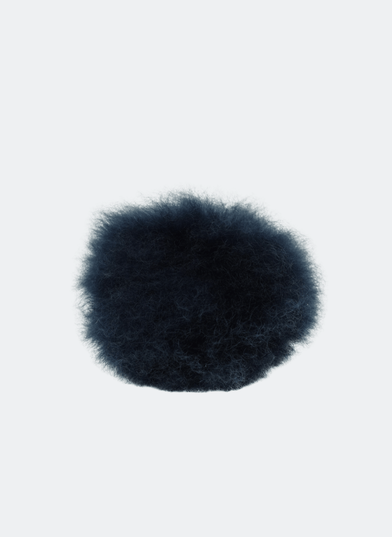 Alpaca Wool Pom Pom: In Navy
