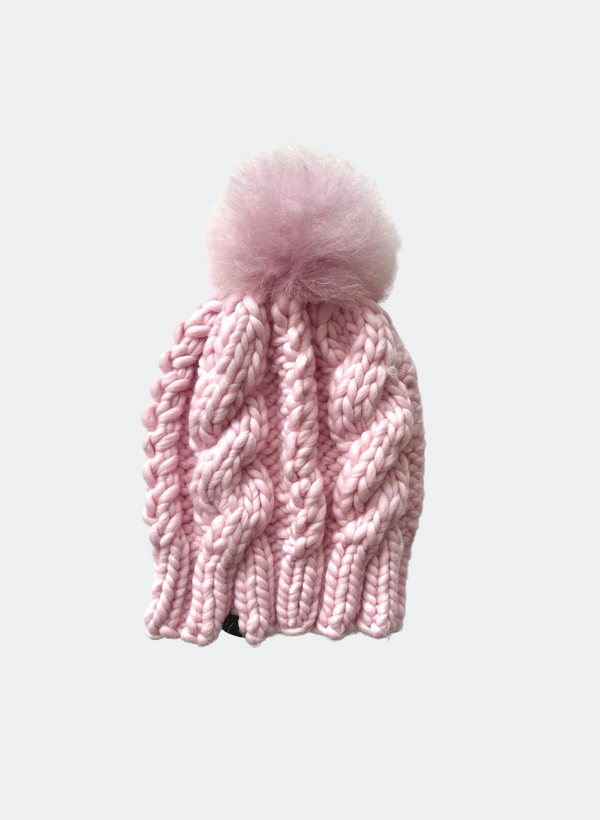 SALE: The Fenway - In Cotton Candy with Alpaca Pom Pom