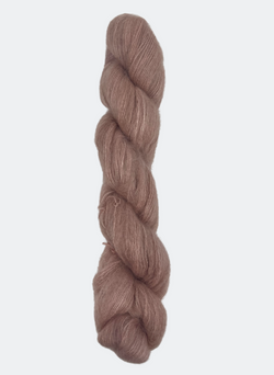 Hand-Dyed Mohair Silk:  72% Kid Mohair / 28% Silk - Touch of Mauve