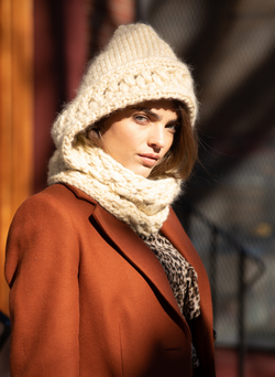 Ready Made: The Newbury - Hooded Cowl In Almond