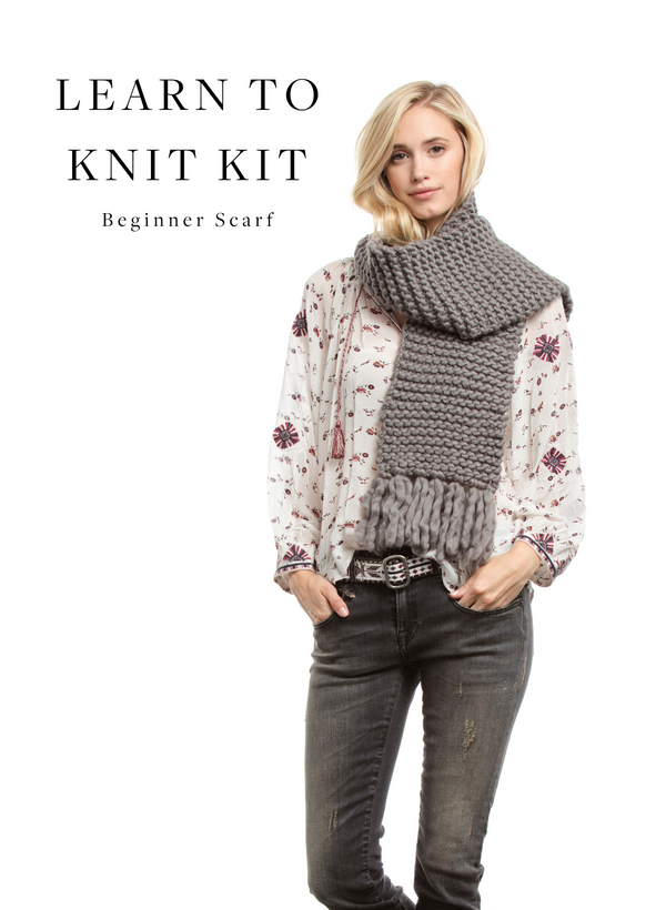 Beginner Learn to Knit Scarf Kit