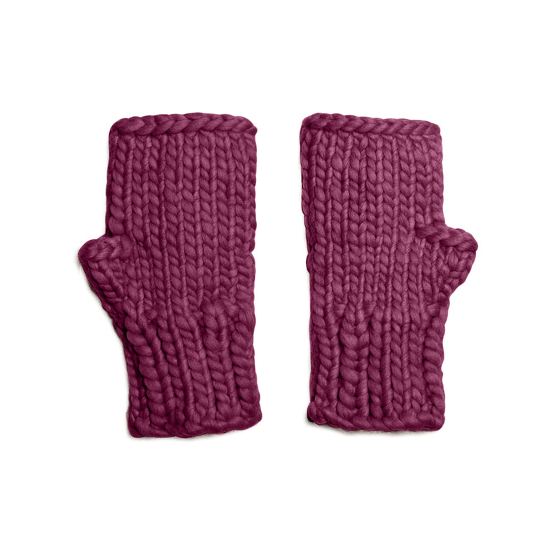 The Chelsea Mitts - Embellished Fingerless Mitts - Knit Kit